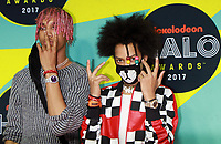 NEW YORK, NY - NOVEMBER 4: Ayo Bowles, Mateo Bowles of Ayo & Teo at the 2017 Nickelodeon Halo Awards at Pier 36 in New York City on November 4, 2017. Credit: RW/MediaPunch /NortePhoto.com