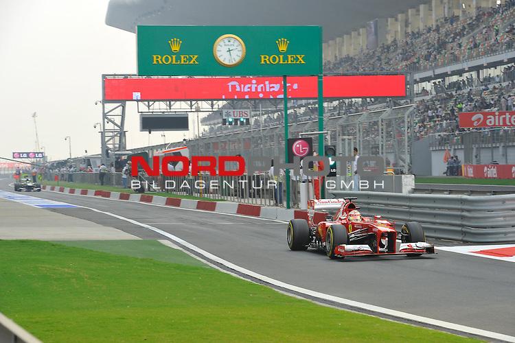 25.-27-10-2013, Jaypee-Circuit, Noida, IND, F1, Grosser Preis von Indien, Noida, im Bild Fernando Alonso (ESP),  Scuderia Ferrari<br />  Foto &copy; nph / Mathis