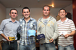 Wayne Wright with runners up Shane Judge, James Judge and Coleman Carroll at the Alan O'Brien Memorial Trophy Golf Outing....Photo NEWSFILE/Jenny Matthews.(Photo credit should read Jenny Matthews/NEWSFILE)....This Picture has been sent you under the condtions enclosed by:.Newsfile Ltd..The Studio,.Millmount Abbey,.Drogheda,.Co Meath..Ireland..Tel: +353(0)41-9871240.Fax: +353(0)41-9871260.GSM: +353(0)86-2500958.email: pictures@newsfile.ie.www.newsfile.ie.FTP: 193.120.102.198.