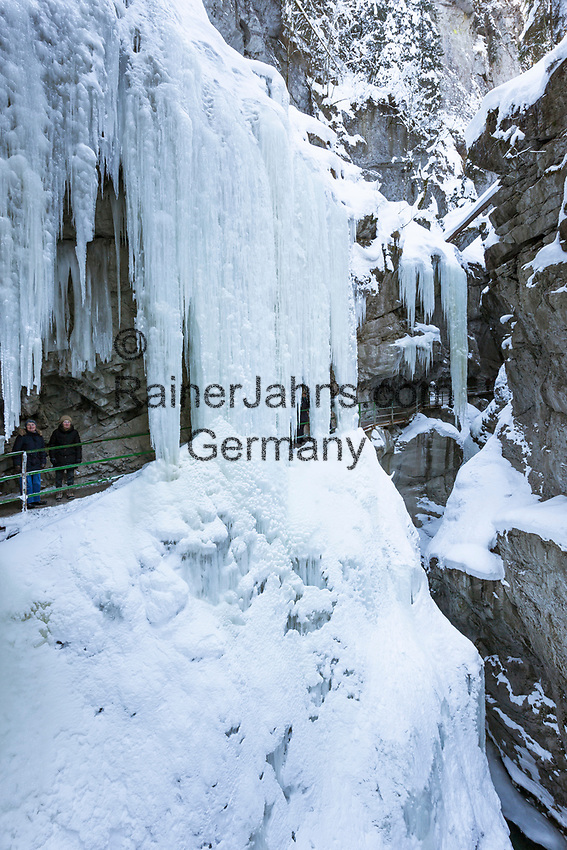Deutschland, Bayern, Schwaben, Oberallgaeu, Oberstdorf, Ortsteil Tiefenbach: die Breitachklamm | Germany, Bavaria, Swabia, Upper Allgaeu, Oberstdorf, district Tiefenbach: gorge Breitachklamm