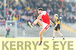 Dr Crokes in action against Mikey Geaney Dingle in the Senior County Football Semi Final in Fitzgerald Stadium on Sunday.