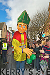 The giant St Patrick meets the crowds at the Killarney St Patricks day parade on Saturday