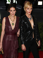 "NEW YORK CITY, NY, USA - MAY 05: Michelle Monaghan, Amber Valletta at the ""Charles James: Beyond Fashion"" Costume Institute Gala held at the Metropolitan Museum of Art on May 5, 2014 in New York City, New York, United States. (Photo by Xavier Collin/Celebrity Monitor)"