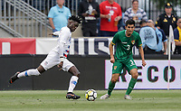 Chester, PA - Monday May 28, 2018: Tim Weah during an international friendly match between the men's national teams of the United States (USA) and Bolivia (BOL) at Talen Energy Stadium.