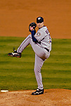 7 September 2006: Jason Bergmann, starting pitcher for the Washington Nationals, on the mound against the Colorado Rockies. The Rockies defeated the Nationals 10-5 in a rain-delayed game at Coors Field in Denver, Colorado. ..Mandatory Photo Credit: Ed Wolfstein..