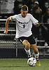 Nick Tagios #9 of Wheatley moves a ball downfield during the first half of the Nassau County varsity boys soccer Class B final against Carle Place at Hofstra University on Wednesday, Oct. 25, 2017. He scored twice in the second half to lead the Wildcats to a 3-0 win.