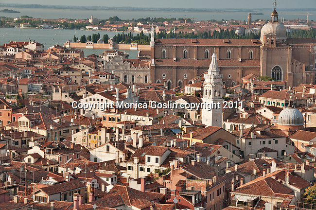 View of Venice, Italy from the St. Mark's Campanile bell tower