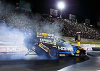 Jul 21, 2017; Morrison, CO, USA; NHRA funny car driver Matt Hagan during qualifying for the Mile High Nationals at Bandimere Speedway. Mandatory Credit: Mark J. Rebilas-USA TODAY Sports