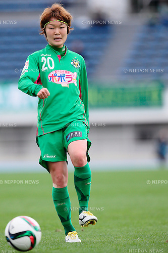 Mizuho Sakaguchi (Beleza), <br /> OCTOBER 31, 2015 - Football / Soccer : <br /> Plenus Nadeshiko League 2015 <br /> between NTV Beleza 2-0 Jef Chiba Ladies <br /> at Komazawa Olympic Park Stadium, Tokyo, Japan. <br /> (Photo by AFLO SPORT)
