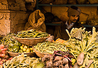 There is something timeless about this turbaned vegetable vendor in the backstreets of Varanasi.<br /> (Photo by Matt Considine - Images of Asia Collection)