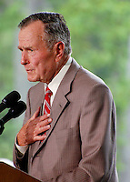 George H.W. Bush at Billy Graham Library <br />