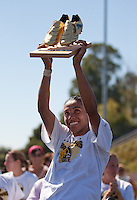 Marta holds up the Golden Boot Award. FC Gold Pride defeated the Philadelphia Independence 4-0 to win the 2010 WPS Championship at Pioneer Stadium in Hayward, California on September 26th, 2010.