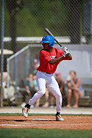 Tyresse Turner during the WWBA World Championship at the Roger Dean Complex on October 19, 2018 in Jupiter, Florida.  Tyresse Turner is a shortstop from La Palma, California who attends Richard Gahr High School and is committed to Cal State Northridge.  (Mike Janes/Four Seam Images)