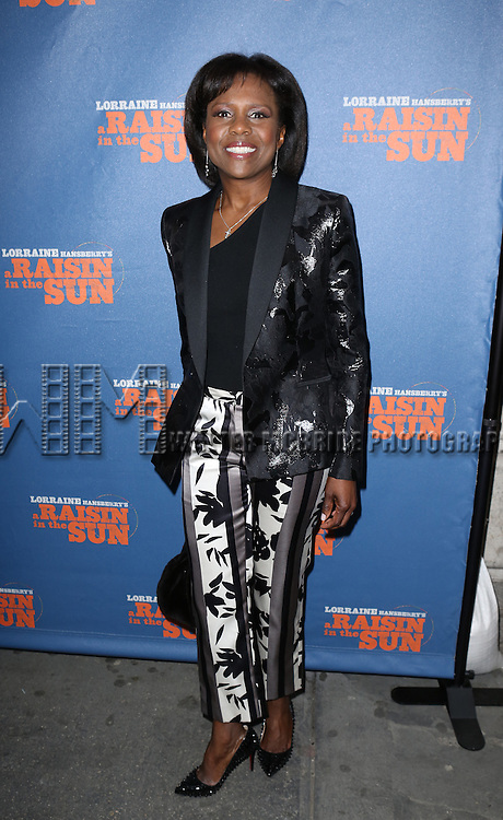 Deborah Roberts attending the Broadway Opening Night Performance of 'A Raisin In The Sun'  at the Barrymore Theatre on April 3, 2014 in New York City.