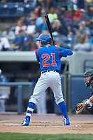 Austin Filiere (21) of the South Bend Cubs at bat against the West Michigan Whitecaps at Fifth Third Ballpark on June 10, 2018 in Comstock Park, Michigan. The Cubs defeated the Whitecaps 5-4.  (Brian Westerholt/Four Seam Images)