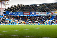 The stand with Swansea supporters during the Sky Bet Championship match between Cardiff City and Swansea City at the Cardiff City Stadium, Cardiff, Wales, UK. Sunday 12 January 2020
