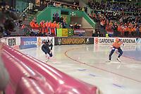 SPEEDSKATING: HAMAR: Vikingskipet, 28-02-2020, ISU World Speed Skating Championships, Sprint, 500m Ladies, Vanessa Herzog (AUT), Jutta Leerdam (NED), ©photo Martin de Jong