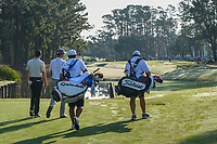 Rory McIlroy (NIR) and Justin Thomas (USA) head down 10 during round 1 of The Players Championship, TPC Sawgrass, at Ponte Vedra, Florida, USA. 5/10/2018.<br /> Picture: Golffile | Ken Murray<br /> <br /> <br /> All photo usage must carry mandatory copyright credit (&copy; Golffile | Ken Murray)