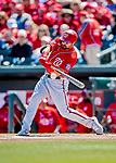 29 February 2020: Washington Nationals outfielder Adam Eaton in action during a Spring Training game against the St. Louis Cardinals at Roger Dean Stadium in Jupiter, Florida. The Cardinals defeated the Nationals 6-3 in Grapefruit League play. Mandatory Credit: Ed Wolfstein Photo *** RAW (NEF) Image File Available ***