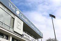 Cloudfm signage on the pavilion during Essex CCC vs Durham MCCU, English MCC University Match Cricket at The Cloudfm County Ground on 4th April 2017