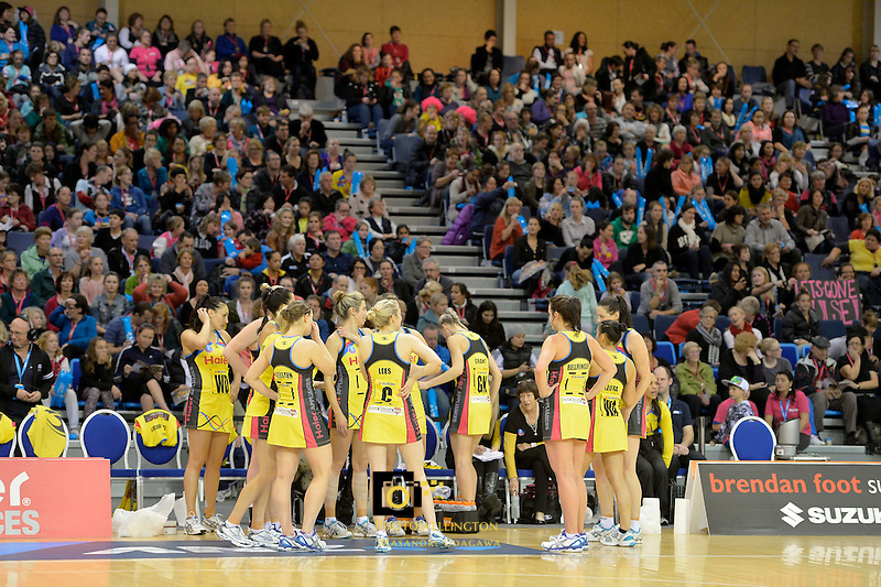 ANZ Championship 2013 Haier Pulse v Canterbury Tactix at Te Rauparaha Arena, Porirua, Wellington, New Zealand on Monday 17 June 2013.<br /> Photo by Masanori Udagawa.<br /> www.photowellington.photoshelter.com..