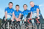 Poles apart: North Kerry cyclists Seamus Mulvihill (Mountcoal), Steve Donegan (Ballylongford), William Keane (Ballylongford) and Pat Falvey (Ballydonoghue) who are cycling from Donegal to Kerry from March13th to Monday 16th to raise funds for Steve and William to travel to South Africa with the Niall Mellon Trust.