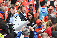Catherine, Duchess of Cambridge<br /> give out Medals at the finish line on The Mall at the 2017 London Marathon, London. <br /> <br /> <br /> &copy;Ash Knotek  D3254  23/04/2017