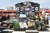 March 23, 2013 Fontana, CA: Kyle Busch wins the Royal Purple 300 held at the Auto Club Speedway.