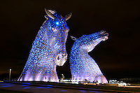 WWF's Earth Hour at The Kelpies, Falkirk<br /> <br /> Earth Hour is an annual global celebration where people and iconic landmarks switch off their lights for one hour to show they care about the future of our planet .<br /> <br /> At 8.30pm the lights went off across the planet on participating buildings and monuments. Lights at the Kelpies switched off and people gathered to enjoy a mass Yoga pose during Earth Hour. The lights went back on at 9.30pm.<br /> <br /> Pic- Lights On at the Kelpies<br /> <br /> First use of picture supplied courtesy of WWF UK<br /> Please Credit - John Linton/WWF<br /> &copy; John Linton 2016<br /> 07986592673<br /> lintonpix.com