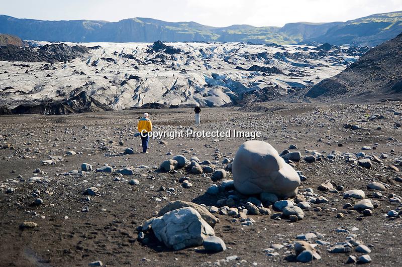View of Myrdalsjokull Glacier in South Iceland
