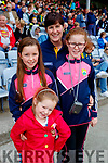 Emma Dennehy, Elaine O'Donoghue, Emily O'Donoghue and Laura O'Donoghue, Cordal, Kerry supporters for the double header in Portlaoise on Saturday.