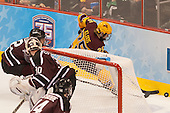 Jeff Taylor (Union - 2), Justin Kloos (MN - 25) - The Union College Dutchmen defeated the University of Minnesota Golden Gophers 7-4 to win the 2014 NCAA D1 men's national championship on Saturday, April 12, 2014, at the Wells Fargo Center in Philadelphia, Pennsylvania.