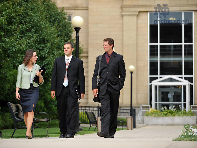 Aug. 12, 2008; Law students at the St. Joseph County courthouse..Photo by Matt Cashore/University of Notre Dame