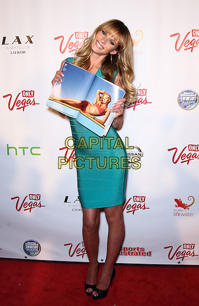ANNE V (Anne Vyalitsyna).The 2011 Sports Illustrated Swimsuit Models celebrate at the SI Swimsuit on Locations Party at LAX Nightclub at The Luxor, Las Vegas, Nevada, USA..February 16th, 2011.full length blue green turquoise dress magazine dress.CAP/ADM/MJT.© MJT/AdMedia/Capital Pictures.