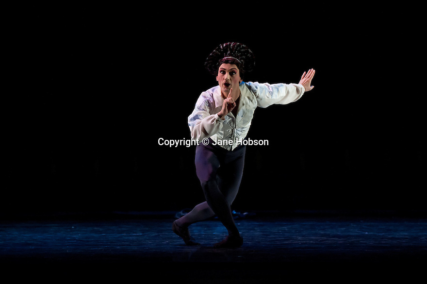 Fernando MEdina Gallego as Harlequin. Les Ballets Trockadero de Monte Carlo perform Harlequinade in Programme 2 at the Peacock Theatre (Sadlers Wells), 17.9.10. Photograph by Jane Hobson
