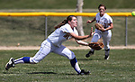 Wildcat Tera Tibbitts makes a catch for Western Nevada College against Salt Lake Community College on April 1, 2011, at Edmonds Field in Carson City, Nev.  .Photo by Cathleen Allison