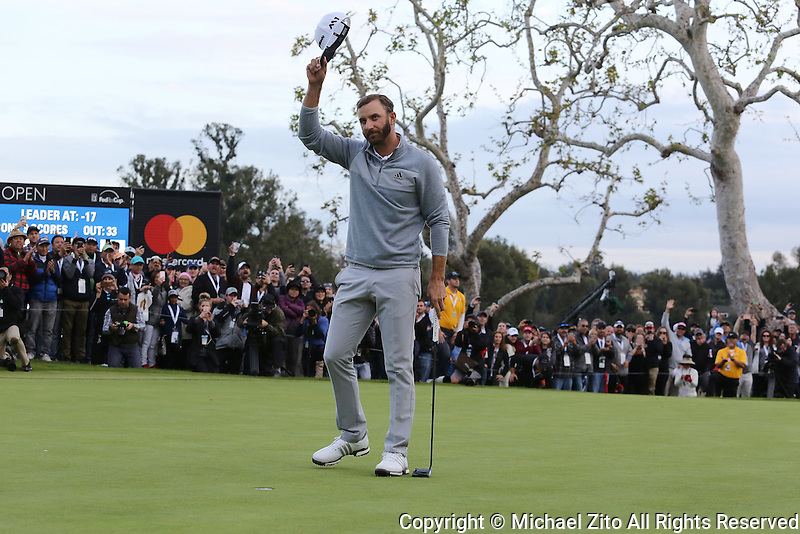February 19, 2017: Dustin Johnson wins the 2017 Genesis Open played at Riviera Country Club in Pacific Palisades, CA.