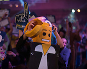 02.01.2015.  London, England.  William Hill PDC World Darts Championship.  Quarter Final Round.  Darts fans at the 2015 William Hill World Darts Championship.