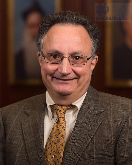 April 12, 2017; Thomas Cosimano, Emeritus faculty portrait (Photo by Matt Cashore/University of Notre Dame)