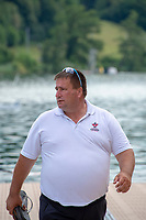 Lucerne, SWITZERLAND, 12th July 2018, Friday  FISA World Cup series, No.3, Lake Rotsee, Lucerne,  Dave THOMPSON, New Zealand national, Coach, Rowing Canada, Photographer Karon PHILLIPS