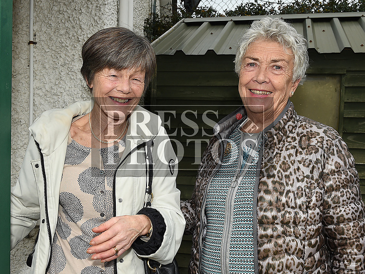 Adri Berney and Rosemary Allen at the Laytown and Bettystown Tennis Club Promotion day. Photo:Colin Bell/pressphotos.ie