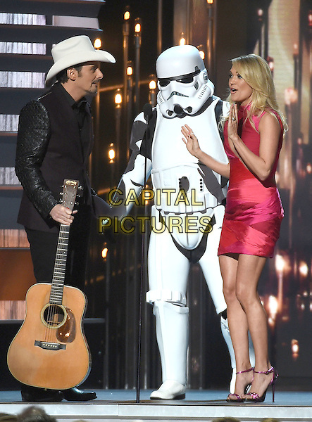 4 November 2015 - Nashville, Tennessee - Brad Paisley, William Shatner, Carrie Underwood. 49th CMA Awards, Country Music's Biggest Night, held at Bridgestone Arena. <br /> CAP/ADM/LF<br /> &copy;LF/ADM/Capital Pictures