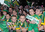 27-9-2014:  Kerry fans pictured at the Kerry team homecoming in Tralee last evening.<br /> Picture by Don MacMonagle