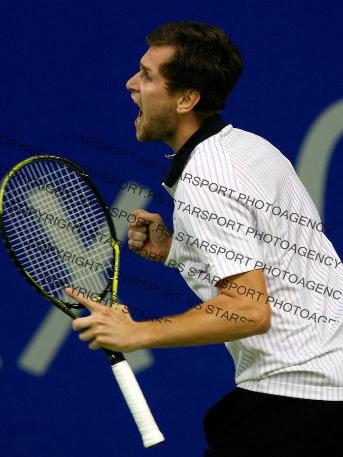 Tennis.Gemax Open 2010, FINAL.Ilija Bozoljac Vs. Karol Beck (SVK).Karol Beck react.Belgrade, 19.02.2010..foto: Srdjan Stevanovic©
