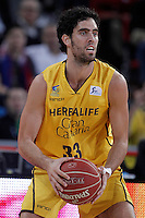 Herbalife Gran Canaria's Javier Beiran during Spanish Basketball King's Cup match.February 07,2013. (ALTERPHOTOS/Acero) /NortePhoto