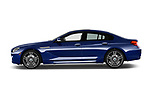 Car Driver side profile view of a 2019 BMW 6-Series-Gran-Coupe 640i-xDrive-M-Sport-Edition-AWD 4 Door Sedan Side View