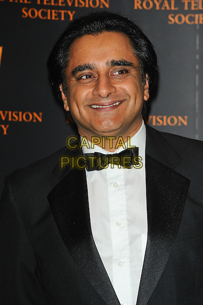 SANJEEV BHASKAR.The Royal Television Society (RTS) Awards, Grosvenor House Hotel, Park Lane, London, England, UK,.March 15th 2011..portrait headshot black bow tie smiling white shirt .CAP/CJ.©Chris Joseph/Capital Pictures.