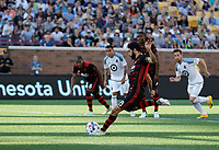 Minneapolis, MN - Wednesday, June 21, 2017: Minnesota United FC played Portland Timbers in a Major League Soccer (MLS) game at TCF Bank stadium. Final score Minnesota United 3, Portland Timbers 2