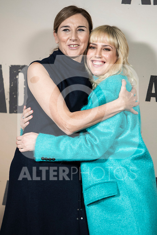 Natalia de Molina and Mona Martinez in the press junction of 'ADIOS', the new work of director Paco Cabezas, which has an undisputed and recognized cast headed by Mario Casas, the two-time winner of Goya Natalia de Molina, and Goya nominees Ruth Diaz and Carlos Bardem.<br /> November 15, 2019. <br /> (ALTERPHOTOS/David Jar)