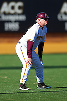 Minnesota Golden Gophers head coach John Anderson coaches third base during the game against the Towson Tigers at Gene Hooks Field on February 26, 2011 in Winston-Salem, North Carolina.  The Gophers defeated the Tigers 6-4.  Photo by Brian Westerholt / Sports On Film